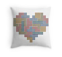 TETRIS COLLECTION Hearts Throw Pillow