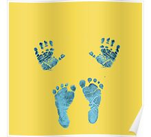 blue baby hands and feet Poster
