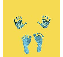 blue baby hands and feet Photographic Print