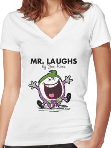 Mr Laughs Women's Fitted V-Neck T-Shirt