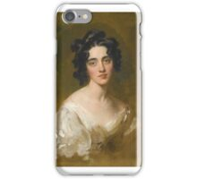 Sir Thomas Lawrence P. R .A. PORTRAIT OF LADY GEORGINA NORTH (D. ) iPhone Case/Skin