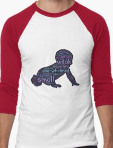 Baby Typography Men's Baseball ¾ T-Shirt