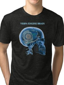 vespa engine brain skull Tri-blend T-Shirt