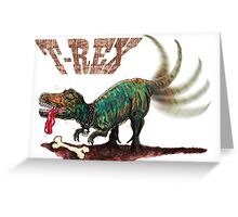 Trex t-rex Greeting Card