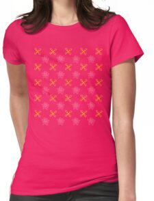 Climbing gear and edelweiss Womens Fitted T-Shirt