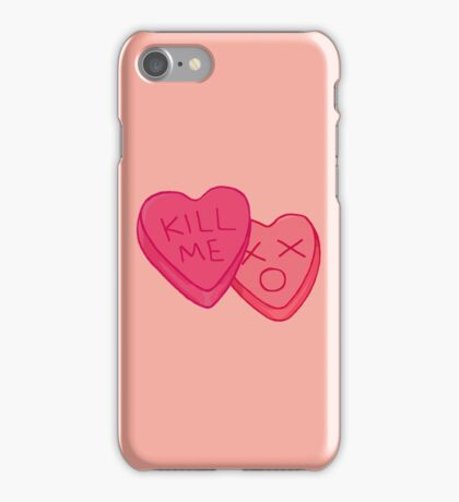 Kill Me Candy Hearts iPhone Case/Skin