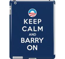 Keep Calm and Barry On iPad Case/Skin