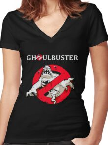 Ghostbusters - Ghoul Women's Fitted V-Neck T-Shirt