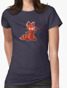 My Better Half - Red Panda (left) Womens Fitted T-Shirt