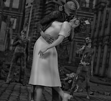 Zombies Kiss BW by Gypsykiss