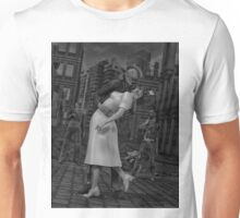 Zombies Kiss BW Unisex T-Shirt