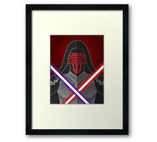 dark warrior Framed Print