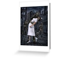 Zombies Kiss  Greeting Card