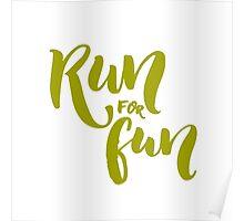 Run for fun Poster