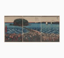 Hiroshige Ando - Opening Celebration of Benzaiten Shrine At Enoshima In Soshu - Circa 1850 - Woodcut One Piece - Short Sleeve