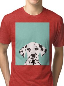 Dalmatian dog cute black and white puppy funny gift for dog owner with dalmatians  Tri-blend T-Shirt