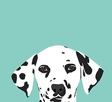 Dalmatian dog cute black and white puppy funny gift for dog owner with dalmatians  by PetFriendly