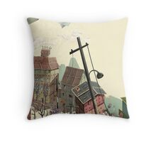 Paper city Throw Pillow
