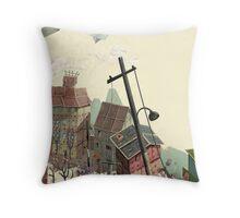 Paper city Throw Pillow