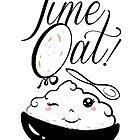 Time Oat Kawaii - Funny Oatmeal by Silvia Neto