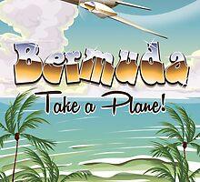 Bermuda travel poster by Nick  Greenaway