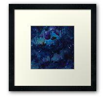 Galaxy watercolor Framed Print