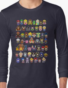 Super Smash Bros Wii U - Pixel Art Characters Long Sleeve T-Shirt