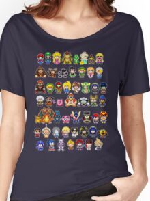 Super Smash Bros Wii U - Pixel Art Characters Women's Relaxed Fit T-Shirt