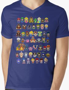 Super Smash Bros Wii U - Pixel Art Characters Mens V-Neck T-Shirt
