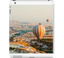 Flying hot air balloon over the Cappadocia iPad Case/Skin