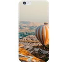 Flying hot air balloon over the Cappadocia iPhone Case/Skin