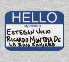 Hello My Name Is Esteban Julio Ricardo Montoya De La Rosa Ramirez  Kids Tee