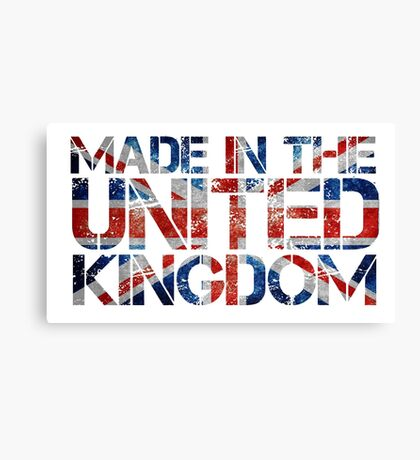Union Jack Flag UK United Kingdom Canvas Print