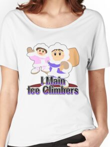 I Main Ice Climbers - Super Smash Bros Melee Women's Relaxed Fit T-Shirt