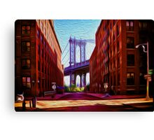 Down under Manhattan Bridge overpass Canvas Print