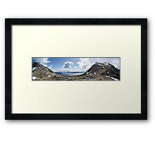 norwegian fjell and fjord Framed Print