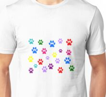 Multi-colored Paws Unisex T-Shirt