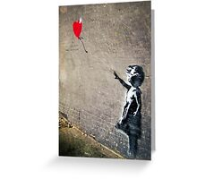 Banksy's Girl with a Red Balloon II Greeting Card