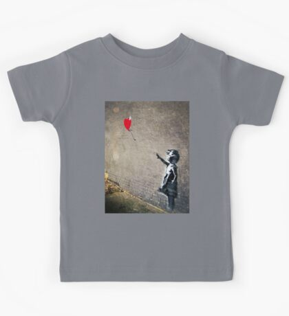 Banksy's Girl with a Red Balloon II Kids Tee