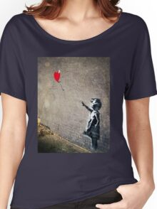 Banksy's Girl with a Red Balloon II Women's Relaxed Fit T-Shirt