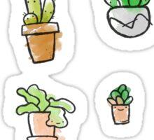Watercolor Succulents Sticker