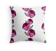 Pattern with flowers and plants. Throw Pillow