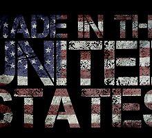 America United States US flag by Sid3walk Art
