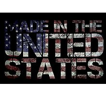 America United States US flag Photographic Print