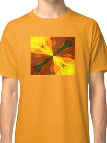 Bold Red, Green and Gold Abstract Kaleidoscope Classic T-Shirt