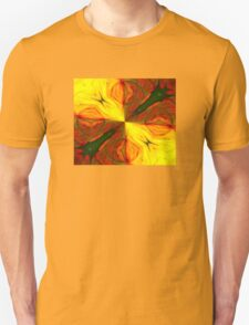 Bold Red, Green and Gold Abstract Kaleidoscope T-Shirt