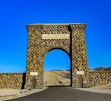 The Roosevelt Arch, Yellow Stone National Park by rabbitholephoto