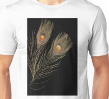 Abstract Peacock feathers Unisex T-Shirt