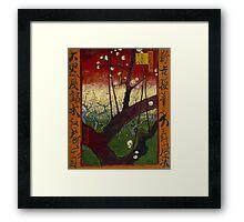 Vincent Van Gogh - Flowering plum orchard after Hiroshige, 1887 Framed Print