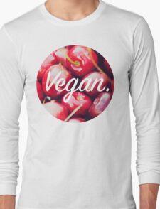 Vegan. - Cherry Circle Long Sleeve T-Shirt